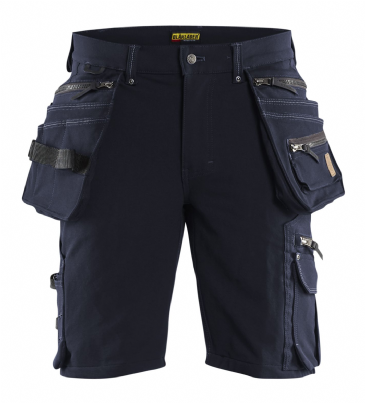 Blaklader 1988 Craftsman Shorts 4-way Stretch X1900 (Dark Navy/Black)